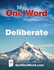 deliberateone-word-poster