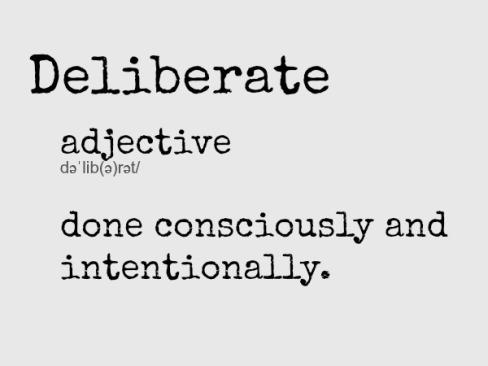deliberate2bdefinition